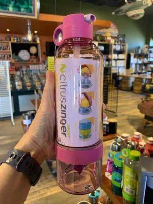 Citrus Zinger Sport Water Straw Bottle Plum