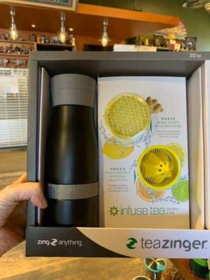 Tea Zinger black gift set tea bottle citrus zester grater