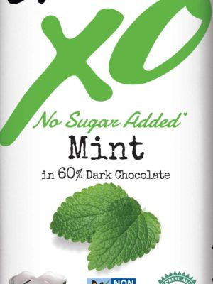chocolove XO no sugar added mint dark chocolate bar
