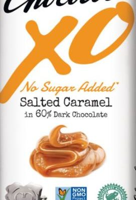 chocolove xo no sugar added salted caramel dark chocolate bar