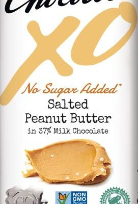 chocolove XO no sugar added salted peanut butter milk chocolate bar