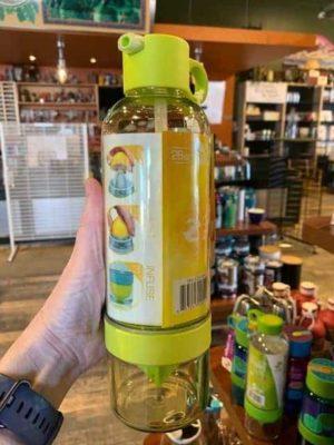 citrus zinger sport water bottle yellow