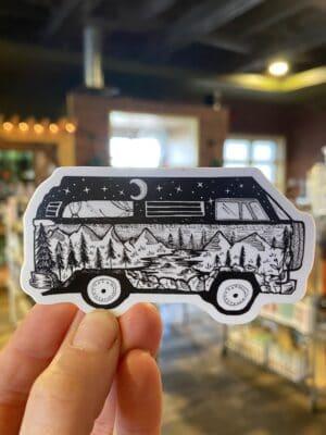 Vinyl Sticker Bus Scene