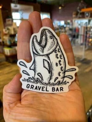 Vinyl Waterproof Sticker Decal Gravel Bar Fish