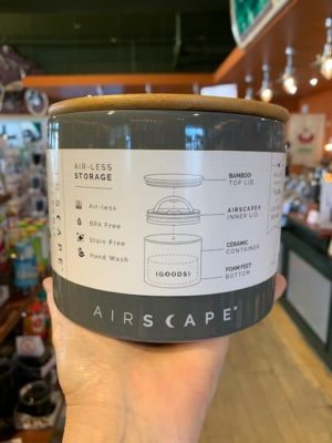 Airscape Ceramic Canister Short Gray