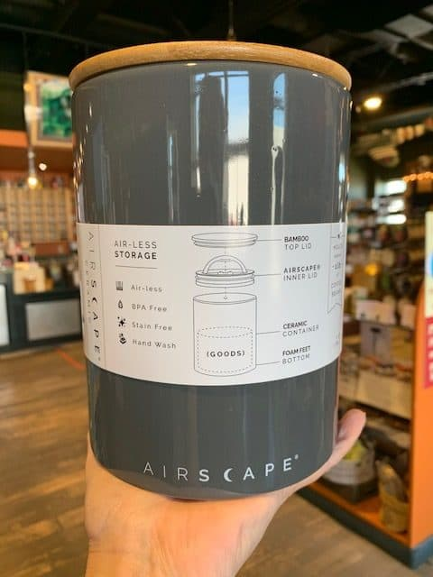 Airscape Ceramic Canister Tall Slate Gray