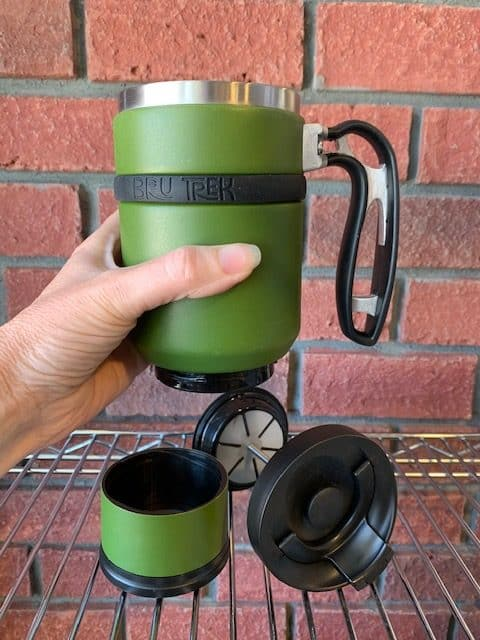 Double Shot Brew Stop Coffee Travel Mug French Press Parts Green