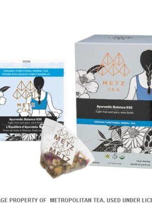 Metz Ayurvedic Balance Organic Tea Bags Box