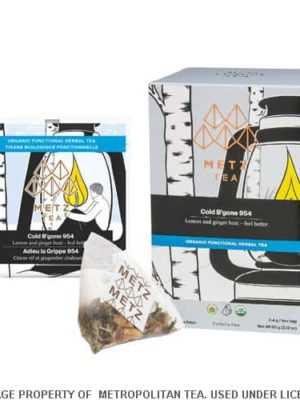 Metz Cold B'Gone-Organic Herbal Tea Bags Box