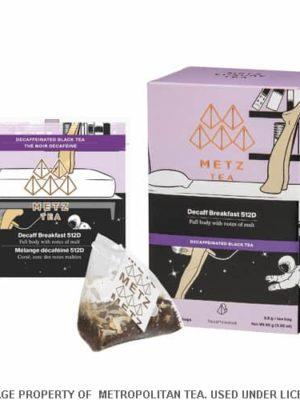 Metz Decaf Black Breakfast Tea Bags Box