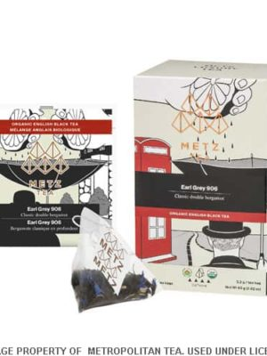 Metz Double Bergamot Earl Grey Organic Black Tea Bag Box
