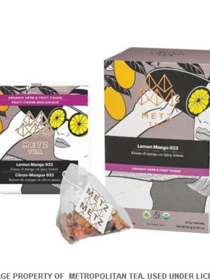 Metz Lemon Mango Organic Herbal Tea Bags Box