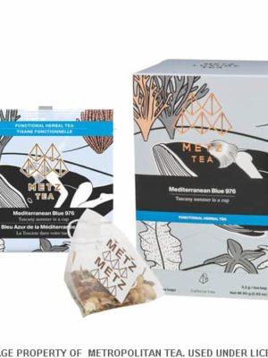 Metz Mediterranean Blue Herbal Tea Bags Box