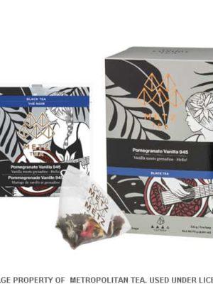 Metz Pomegranate Vanilla Black Tea Bags Box