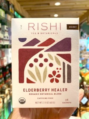 Rishi Elderberry Healer Herbal Tea Bags