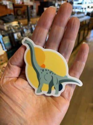Vinyl Sticker Brontosaurus