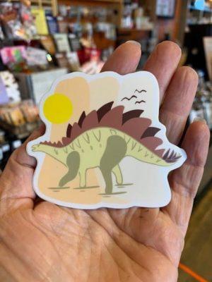 Vinyl Sticker Stegasaurus Sun
