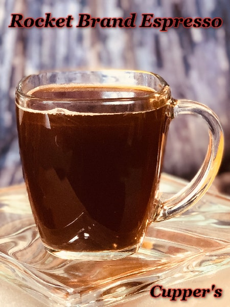 rocket espresso coffee beans brewed