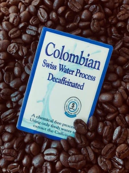 decaf colombian swiss water coffee
