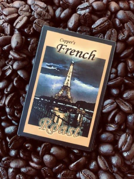 dark french roast arabica coffee beans