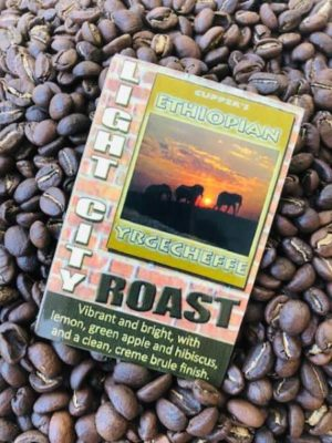 light roast arabica coffee beans