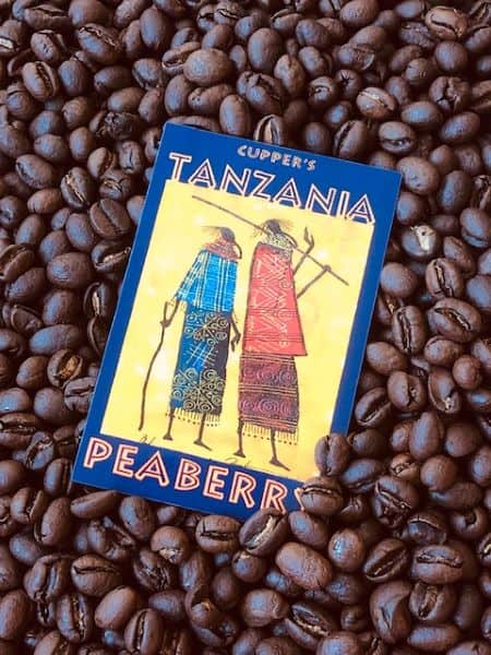 tanzania peaberry arabica coffee beans