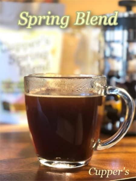 light roast coffee blend brewed
