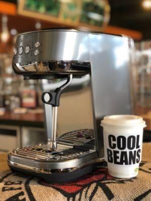 Breville Bambino Plus Espresso Machine Smoked Hickory