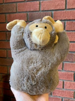 Stuffed Doorstopper Brown Monkey