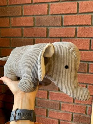 Stuffed Doorstopper Grey Elephant
