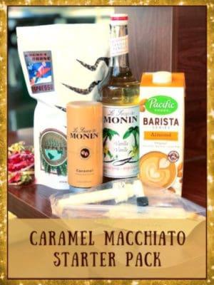 caramel macchiato starter pack