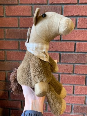 Stuffed Doorstopper Brown Horse