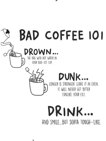 BAD coffee brew bag instructions