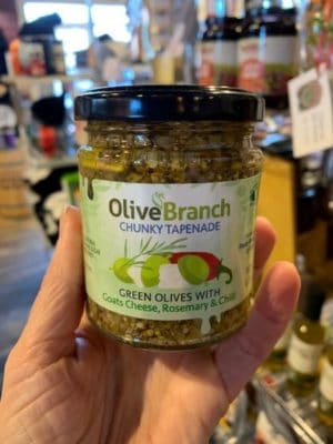 Olive Branch Tapenade Green Olives Goat Cheese Rosemary Chili