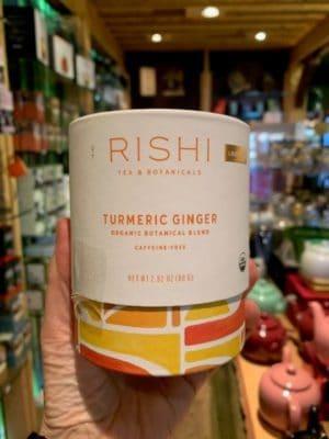 Rishi Turmeric Ginger Herbal Tea, Loose