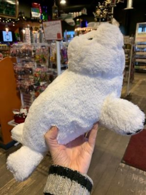 Stuffed Doorstopper White Seal