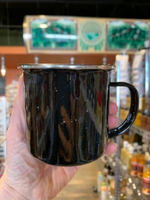 Enamel Cup Black Stainless Rim 12oz