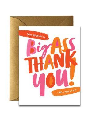 Big Ass Thank You Card