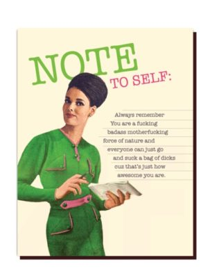 Note to Self Card