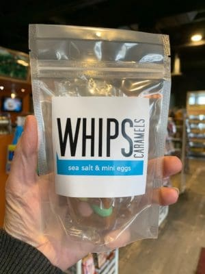 Whips Sea salt mini eggs caramels