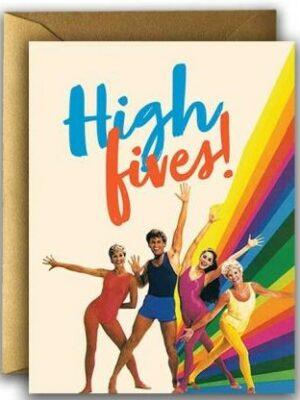 Offensive & Delightful Hi Fives Card