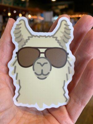 Vinyl Sticker Llama Aviator