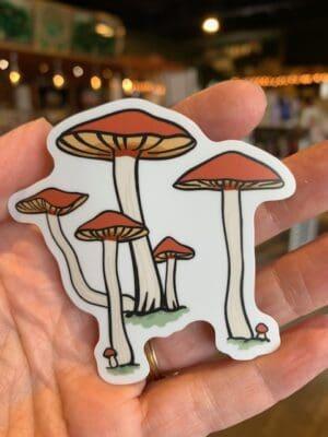 Vinyl Sticker Mushroom Cluster