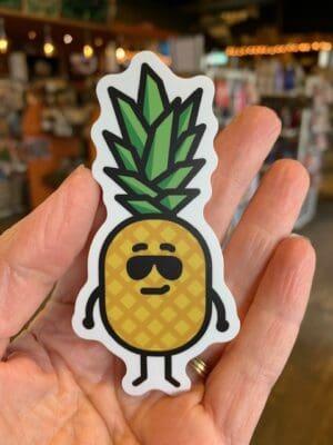 Vinyl Sticker Pineapple Sunglasses