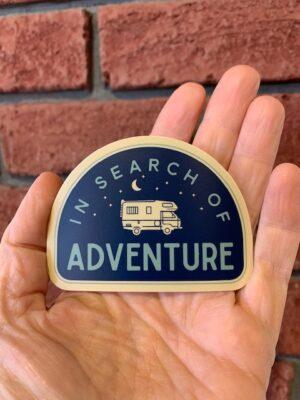 Vinyl Sticker - In Search of Adventure