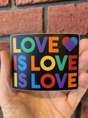 Vinyl Sticker - Love is Love
