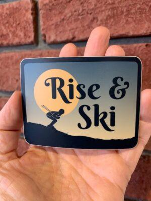 Vinyl Sticker - Rise & Ski